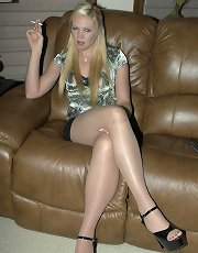 Mistress Ariel blonde pantyhose domination