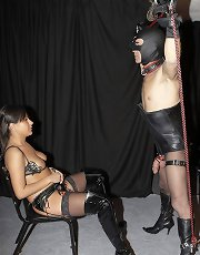 Mistress Kiss dominates in Slave Cock