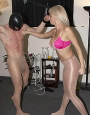 Plaything In Pantyhose with Mistress Alexis